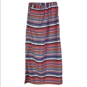 Olive & Oak Striped Maxi Skirt